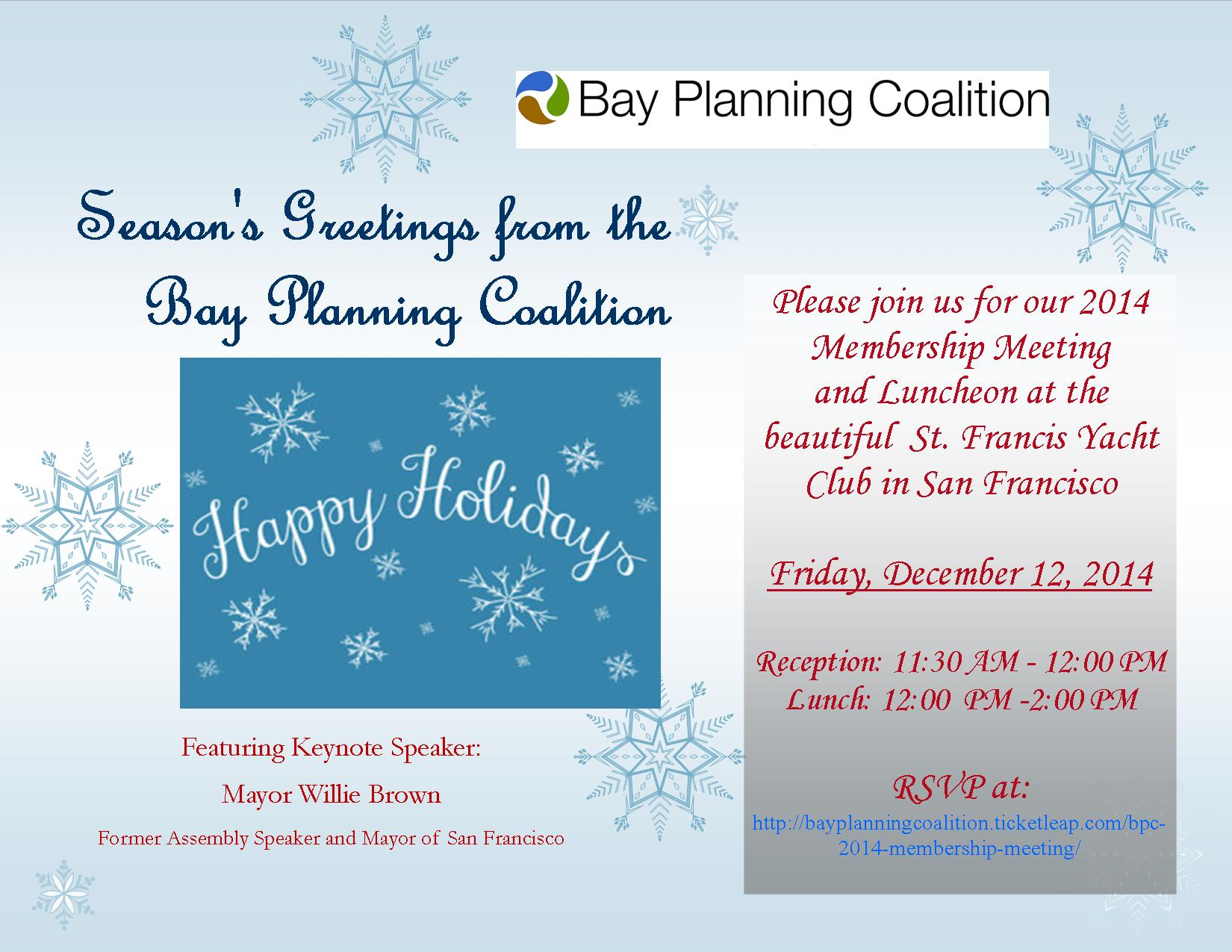 Bay Planning Coalition 2014 Annual Membership Meeting Luncheon